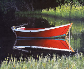 Red Rowboat - Fine Art Print