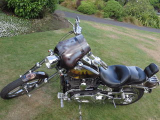 Keith Kelly's  Ned Kelly tribute Harley