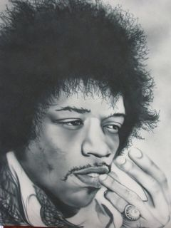 Pensive Jimi..The King of rock