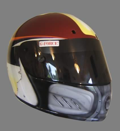 Blast from the Past Funny Car driver Helmet