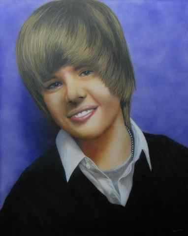 Justin Bieber portrait for N Z's greatest Fan