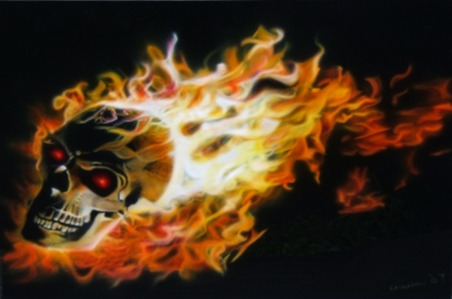 Ghost Rider - Portraits - Customs Department Airbrushing