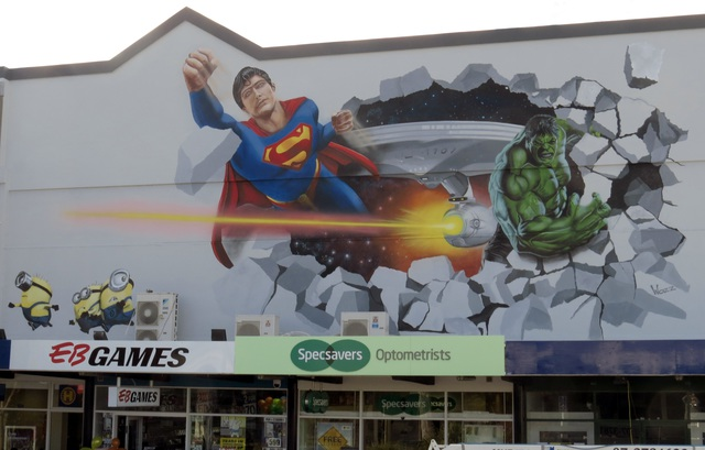 Starlight Theatre ... Taupo Superhero Mural