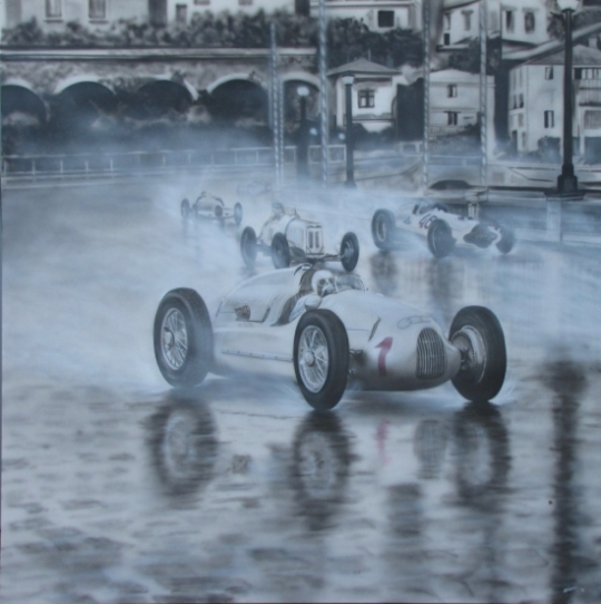 '38 Monaco Grand Prix tryptich