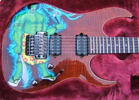 Simons Polynesian Hulk Ibanez Guitar Musical Instruments